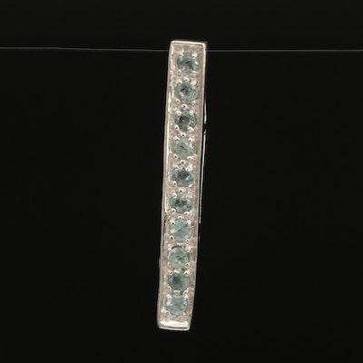 Sterling Alexandrite Bar Pendant