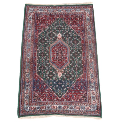 3'10 x 6'8 Hand-Knotted Indian Bijar Area Rug