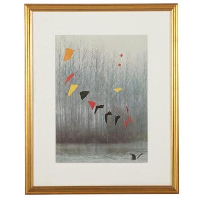"""Offset Lithograph After Alexander Calder for """"Derrière le Miroir,"""" 1973"""