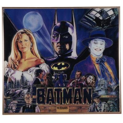 "Offset Lithograph After Paul Faris ""Batman Pinball Machine,"" Circa 1991"