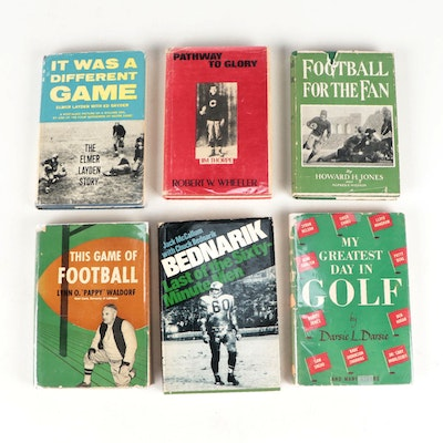 """Signed """"This Game of Football"""" by Lynn O. Waldorf and More Sports History Books"""