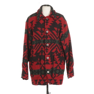 Men's Woolrich Wool Hunting Button-Down Coat