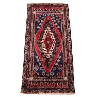 4'9 x 10'2 Hand-Knotted Turkish Heriz Area Rug