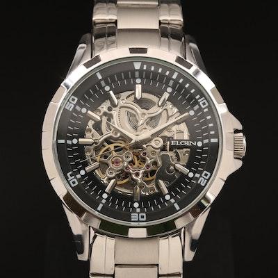 Elgin Skeleton Case Automatic Wristwatch