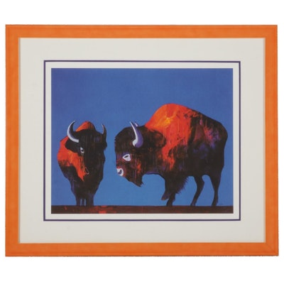 "John Nieto Serigraph ""Buffaloes,"" 1996"