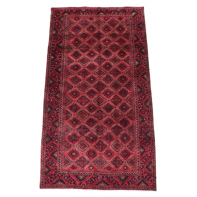 5'3 x 9'10 Hand-Knotted Persian Turkmen Area Rug