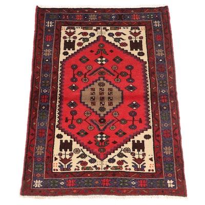3'4 x 5'5 Hand-Knotted Persian Hamadan Area Rug
