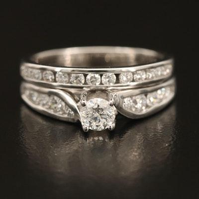14K 0.98 CTW Diamond Ring and Enhancer