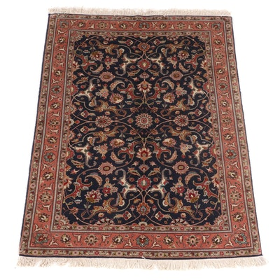 6' x 7' Hand-Knotted Persian Sarouk Area Rug