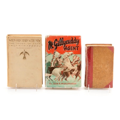 """Illustrated """"An Autobiography of Buffalo Bill"""" and More, Early/Mid-20th Century"""