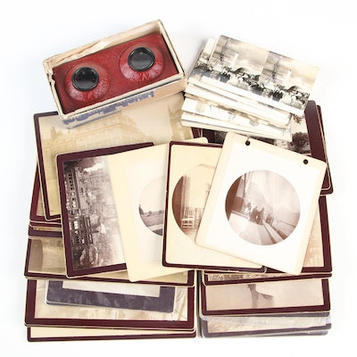 Photographs and Stereographs With Viewer, Late 19th to Mid-20th Century