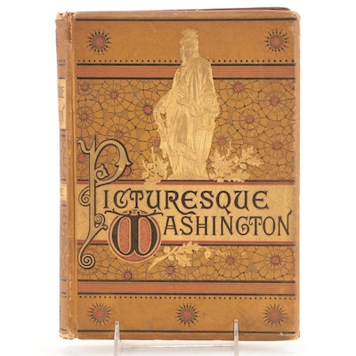 """Illustrated """"Picturesque Washington"""" by Joseph West Moore, 1884"""