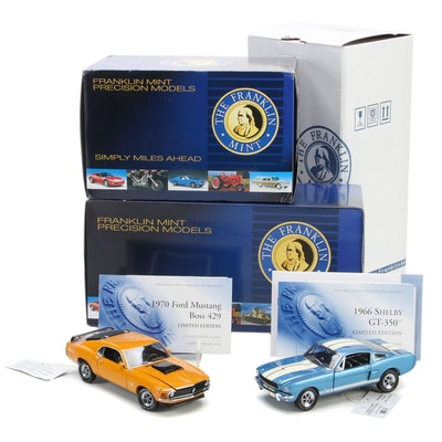 Franklin Mint 1:24 Limited Edition 1970 Mustang Boss 429 and 1966 Shelby GT-350