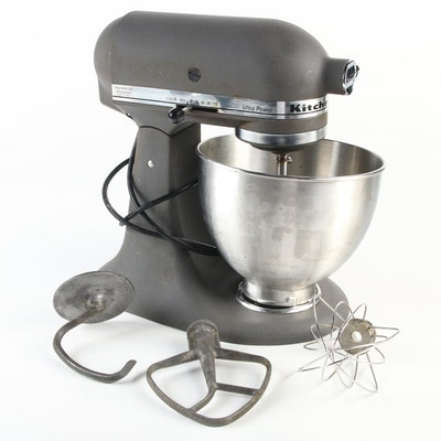 KitchenAid Imperial Grey Ultra Power Tilt-Head Stand Mixer with Attachments