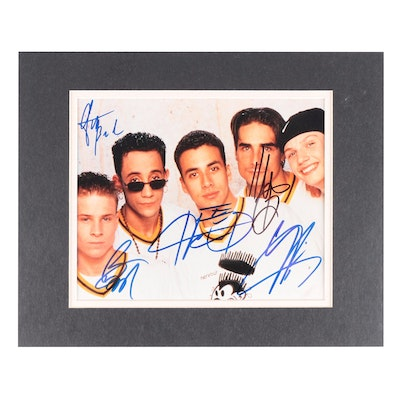 Backstreet Boys Signed and Matted Photographic Print