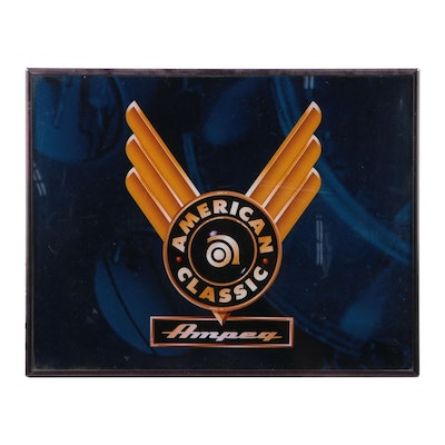 """Ampeg Amplifier """"American Classic"""" Lighted Wall Sign"""