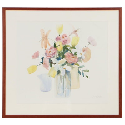 Diane Stefan Floral Still Life Watercolor Painting