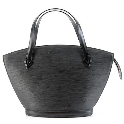 Louis Vuitton Saint Jacques PM Short Strap Tote Bag in Noir Epi Leather