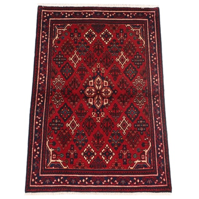 3'6 x 5'5 Hand-Knotted Persian Josheqan Area Rug