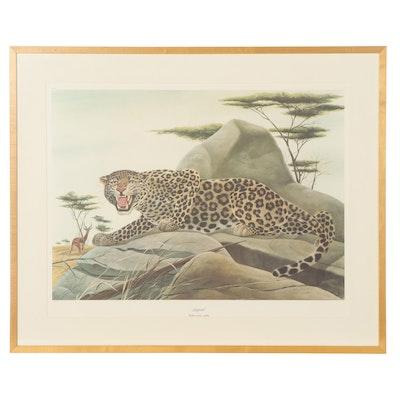 """John Ruthven Offset Lithograph """"Leopard"""""""