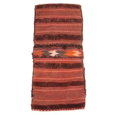 1'9 x 4'1 Handwoven Persian Saddle Bag