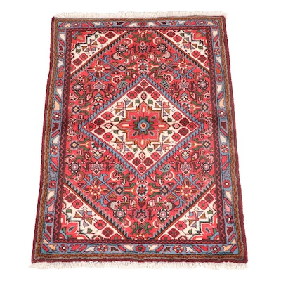 3'8 x 5'6 Hand-Knotted Persian Heriz Area Rug