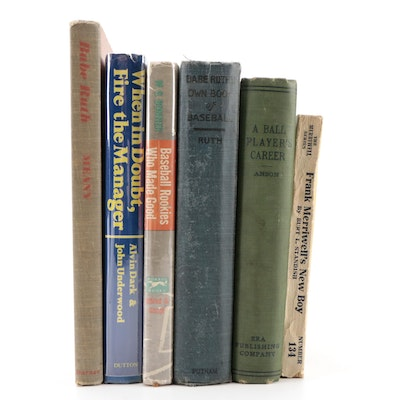 """Second Printing """"Babe Ruth's Own Book of Baseball"""" and More Books"""