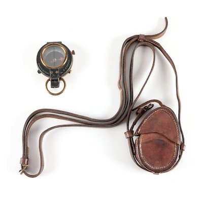 WW I E. Koehn Verner's Prismatic Compass,  Hathaway Son & Co Walsall Pouch