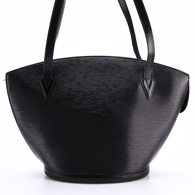 Louis Vuitton St. Jacques GM Handbag in Black Epi and Smooth Leather