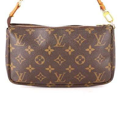 Louis Vuitton Accessories Pochette in Monogram Canvas and Vachetta Leather