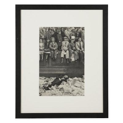 "Henri Cartier-Bresson London Street Rotogravure From ""The Decisive Moment,"" 1952"