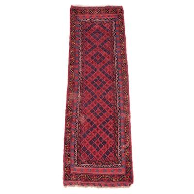 2'2 x 7'7 Handwoven Persian Baluch Mixed Technique Carpet Runner