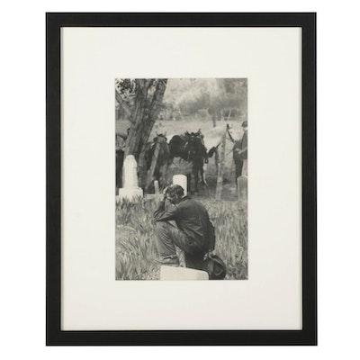 """Henri Cartier-Bresson Rotogravure From """"The Decisive Moment,"""" 1952"""