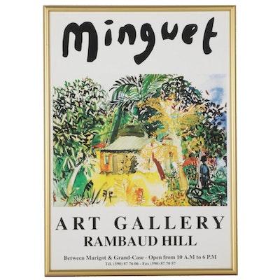 Minguet Art Gallery Offset Lithograph Poster, Circa 1997