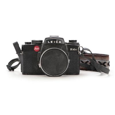 Leica R4S SLR 35mm Roll Film Black Camera Body and Strap, 1983