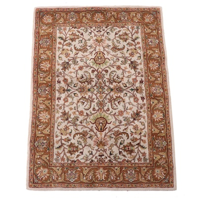 5'2 x 7'1 Hand-Tufted Indian Mahal Style Area Rug