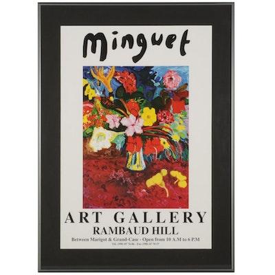 Minguet Art Gallery Offset Lithograph Poster, Circa 2000