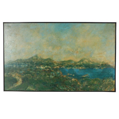 "Robert Knipschild Landscape Oil Painting ""Cove"""