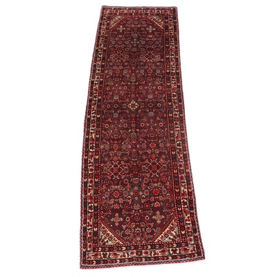 3'8 x 11'6 Hand-Knotted Persian Hamadan Long Rug