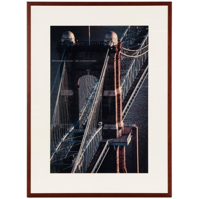 Chromogenic Photograph of the John A. Roebling Bridge
