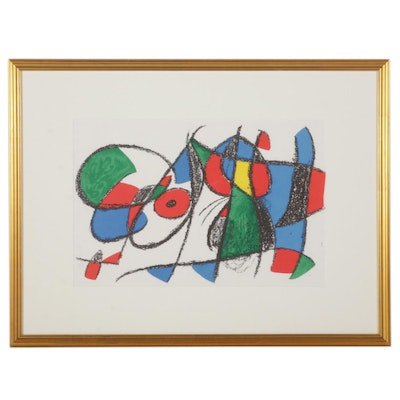 """Joan Miró Double-Page Color Lithograph From """"Lithographs II"""""""