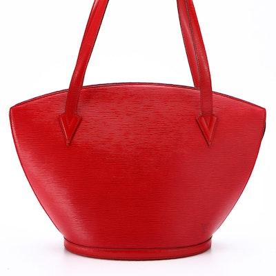 Louis Vuitton Saint Jacques GM Tote in Rouge Epi Leather