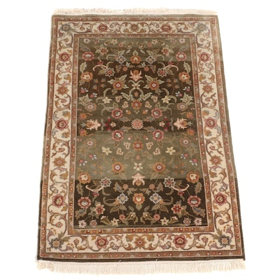 4' x 6'4 Hand-Knotted Indian Mahal Area Rug from The Rug Gallery
