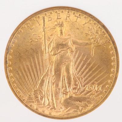 NGC MS64 1911-D $20 Saint-Gaudens Double Eagle Gold Coin