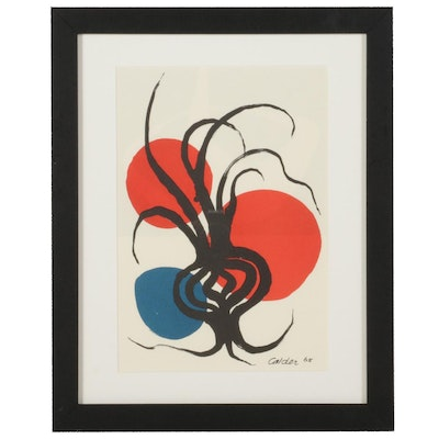 Color Lithograph After Alexander Calder for Galerie Adrien Maeght, 1987