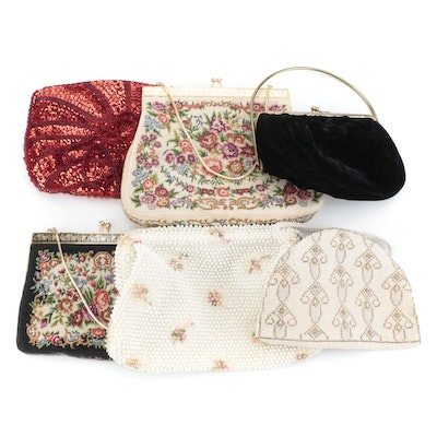 Corde Bead, Carla Marchi and Other Needlepoint, Embellished and Velveteen Bags
