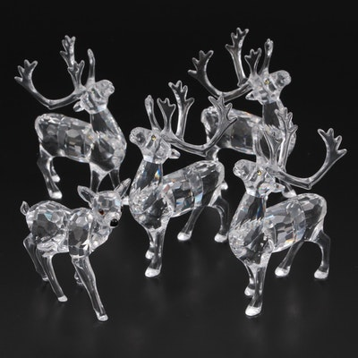 "Swarovski ""Reindeer"" and ""Fawn"" Crystal Figurines"