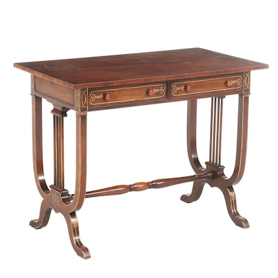 Classical Style Mahogany and Gilt-Decorated Side Table, 20th Century