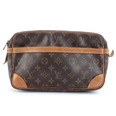 Louis Vuitton Compagnie 28 Clutch in Monogram Canvas and Vachetta Leather