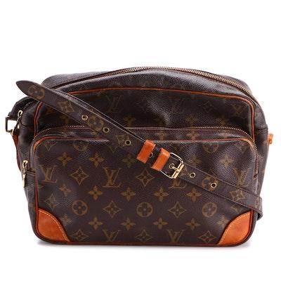 Louis Vuitton Nil 35 Shoulder Bag in Monogram Canvas and Vachetta Leather